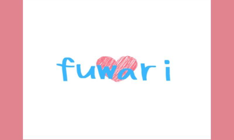fuwariのロゴ ハート ブルー
